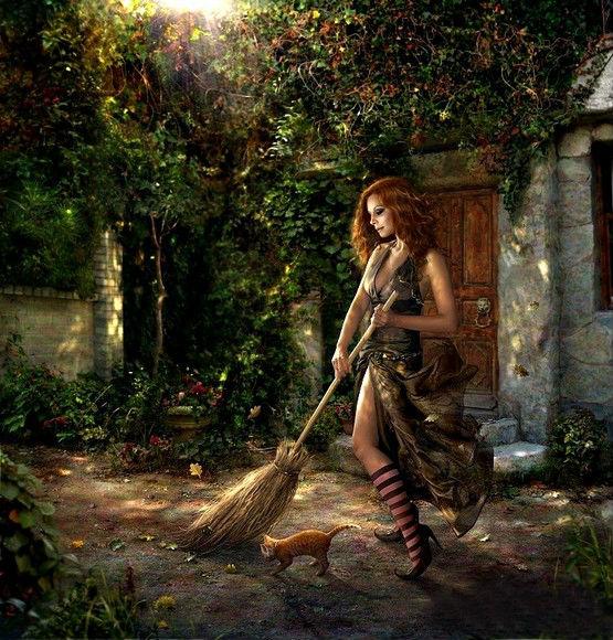Ведьма и рыжий кот
